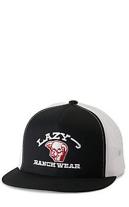 Lazy J Ranch Wear Black with Embroidered Logo Cap