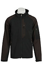 Rafter C Men's Brown & Black Softshell Bonded Jacket
