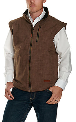 Rafter C Men's Heather Brown Concealed Carry Bonded Vest