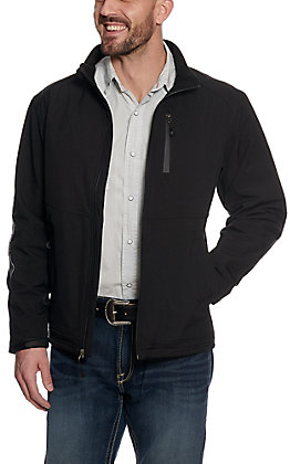 Rafter C Men's Black Logo Softshell Jacket
