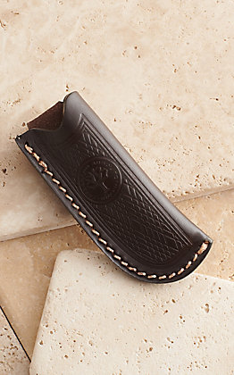 Boker Dark Brown Leather Trapper Sheath