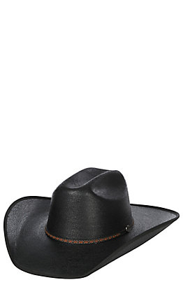 Cavender's 15X Ponderosa Black Palm Leaf with Bound Edge Cowboy Hat