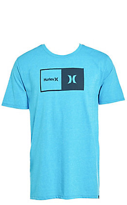 Hurley Men's Siro Natural Blue Fury Logo Short Sleeve Tee