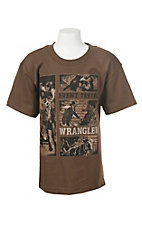 Wrangler Boy's Brown Event Tested T-Shirt