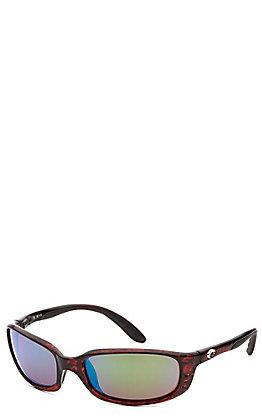 Costa Brine Tortoise Frame with Green Polarized Lens Sunglasses