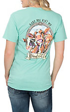 Girlie Girl Originals Women's Mint Brand of Cattle S/S T-Shirt