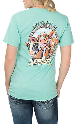 Girlie Girl Originals Women's Mint Brand of Cattle Short Sleeve T-Shirt