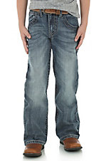 Rock 47 by Wrangler Boy's Medium Wash Boot Cut Open Pocket Jeans