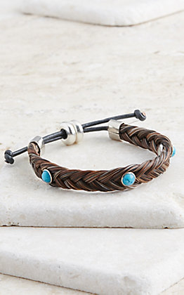 Cowboy Collectibles Granite Braided Horse Hair Bracelet