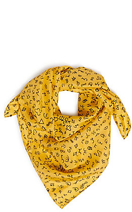 Wyoming Traders Gold Ranch Brands Silk Scarf