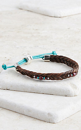 Cowboy Collectibles Sorrell Braided Horse Hair Bracelet