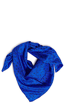 Wyoming Trader's Royal Blue Ranch Brands Silk Scarf