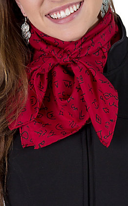 Red Brand Silk Wild Rags Scarf