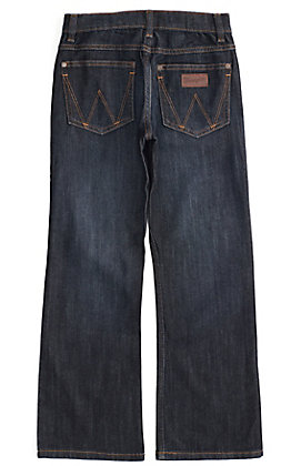 Wrangler Retro Boys' Anders Dark Wash Relaxed Fit Boot Cut Leg Stretch Jean (8-16)