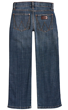 Wrangler Retro Boys' Falls City Medium Wash Relaxed Fit Boot Cut Leg Stretch Jean (8-16)