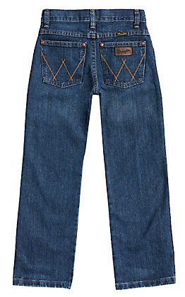 Wrangler Retro Boys' Everyday Blue Medium Wash Relaxed Fit Straight Leg Jeans (8-16)
