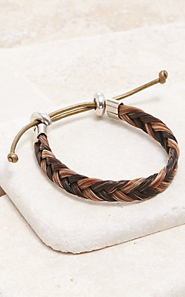 Cowboy Collectibles Cinnamon & Black Braided Horse Hair Bracelet