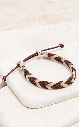 Cowboy Collectibles Sorrel & White Braided Horse Hair Bracelet