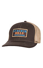 Stackin Bills Brown and Tan 7 Days a Week Mesh Snap Back Cap