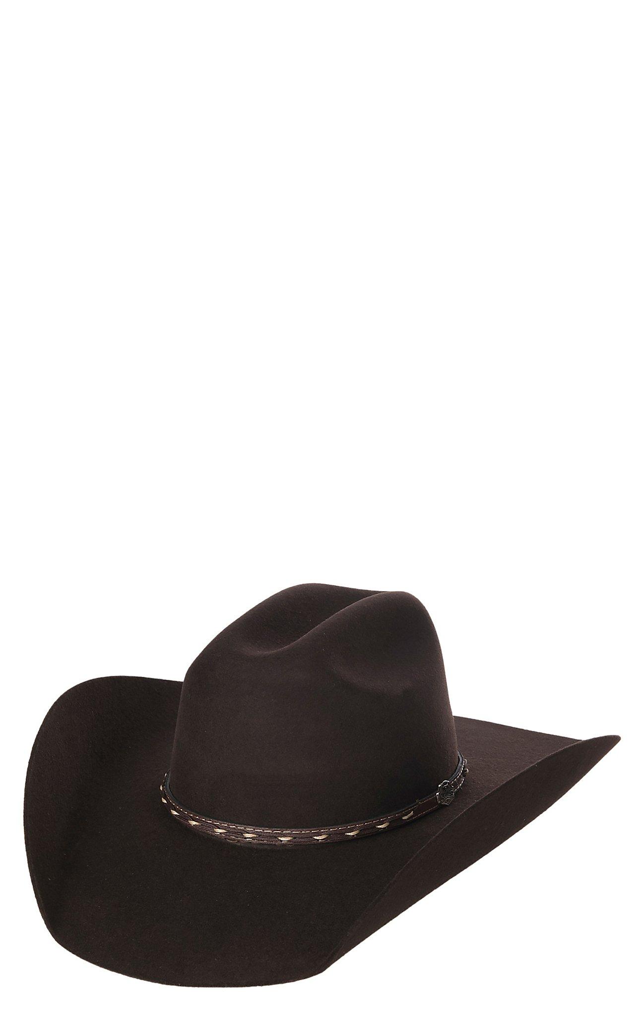 Cavender s Cowboy Collection 3X Dark Brown Premium Wool Hat  94c2cae77ac