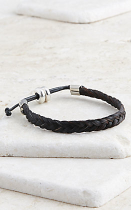 Cowboy Collectibles Black Braided Horse Hair Bracelet