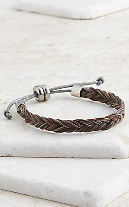 Cowboy Collectibles Granite Braided Horse Hair Plain Bracelet