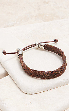 Cowboy Collected Sorrel Braided Horse Hair Bracelet