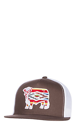 Lazy J Ranchwear Brown Serape Elevation Patch Snap Back Cap