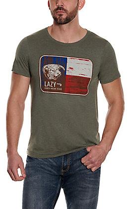 Lazy J Ranch Men's Sage Bull Graphic Short Sleeve T-Shirt