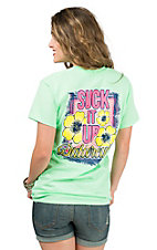 Girlie Girl Originals Women's Mint Suck It Up Buttercup Short Sleeve T-Shirt
