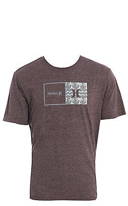 Hurley Men's Heather Mahogany Naturals Logo Short Sleeve T-Shirt