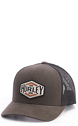 Hurley Brown & Black Patch Snap Back Cap
