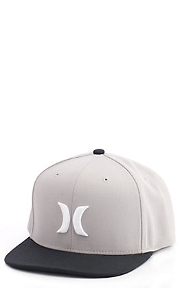 Hurley Icon Grey and Black Snap Back Cap