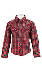 Wrangler Boys L/S Fashion Snap Shirt BVG100M
