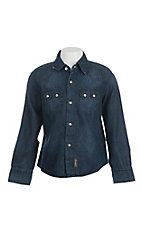 Wrangler Boy's Denim Long Sleeve Western Snap Shirt