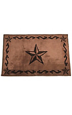 HiEnd Accents Chocolate Star Bath Rug