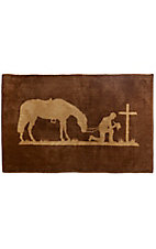 HiEnd Accents Chocolate Praying Cowboy Bath Rug