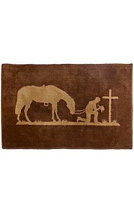 HiEnd Accents Chocolate Praying Cowboy Rug