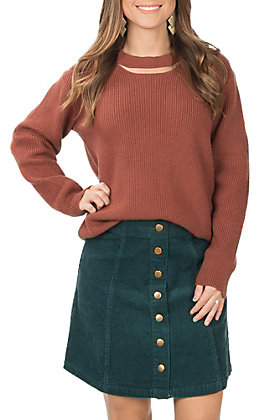 Wishlist Women's Teal Green Corduroy Mini Skirt
