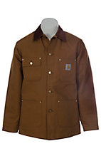 Carhartt Brown Blanket Lined Duck Chore Coat