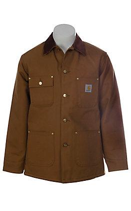 Carhartt Brown Blanket Lined Duck Chore Coat