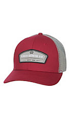 Cinch Red and Grey Denim CO. Patch Snap Back Cap