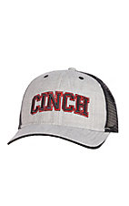 Cinch Grey Black Block Chinch Embroidered Logo Cap