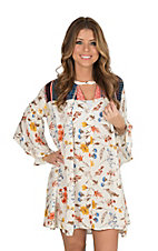 Umgee Women's Cream Floral Tent Dress