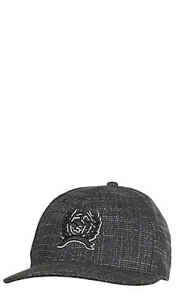Cinch Men's Black Texture Classic Logo Snapback Cap