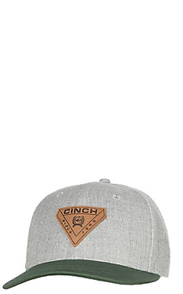 Cinch Heather Grey/Green Bill Snap Back Cap