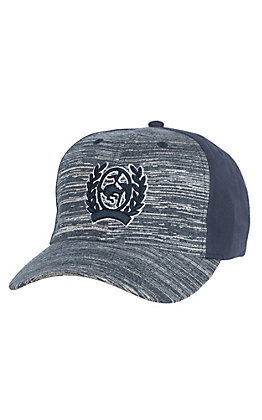 Cinch Navy Heather Classic Logo Patch Snapback Trucker Hat