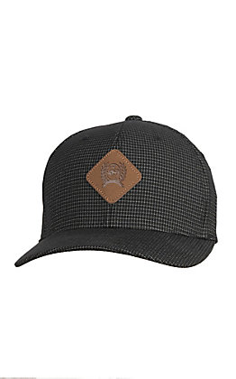 Cinch Men's Black Cinch Leather Patch Logo Cap