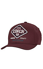 Cinch Burgundy with Embroidered Patch Flex Fit Cap C0627716