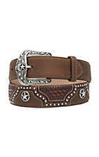 Justin Mens Texas All Star Western Belt C11279